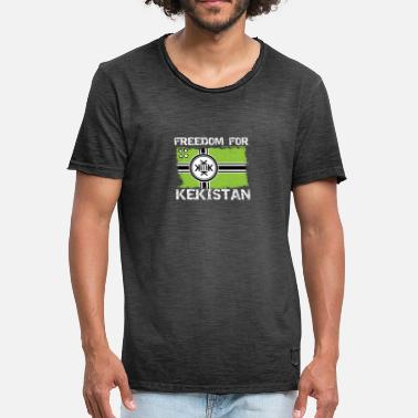 Pepe The Frog Freedom For Kekistan - Men's Vintage T-Shirt
