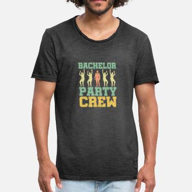 Groom BACHELOR PARTY CREW T-skjorte - Vintage-T-skjorte for menn
