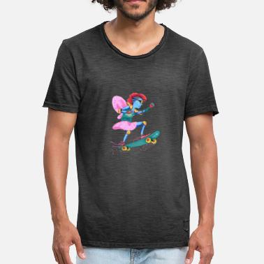 Neon Light Spaceelfe - Men's Vintage T-Shirt