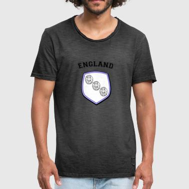 ENGLAND Three lions 3 lion heads shield - Men's Vintage T-Shirt
