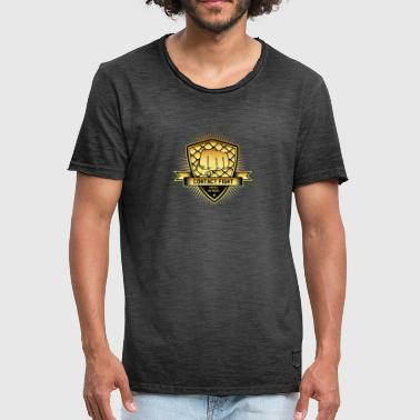 Kontakt Fight Gold - Vintage-T-skjorte for menn