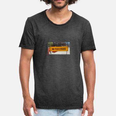 Left Out Pedestrians please left walking - Men's Vintage T-Shirt
