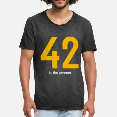 Answer 42 The answer is 42 - Men's Vintage T-Shirt