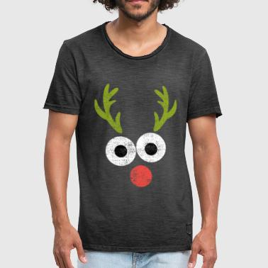 Red Nosed Reindeer Reindeer Rudolph with the red nose - Men's Vintage T-Shirt