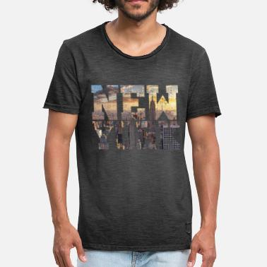 Big Apple New York Big Apple - Vintage-T-skjorte for menn