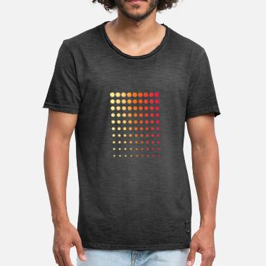 Dot Orange dots - Männer Vintage T-Shirt