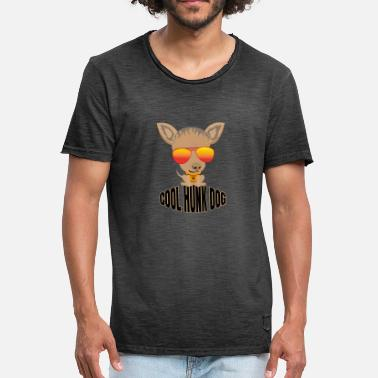Hunk Cool Hunk Dog - Vintage-T-skjorte for menn