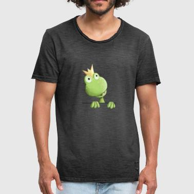 Cartoon Frog Sweet Frog Prince - Frog Cartoon - Men's Vintage T-Shirt