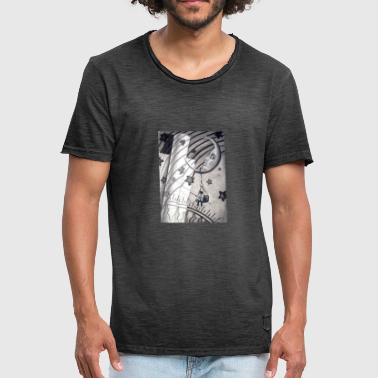 Mond Collage - Männer Vintage T-Shirt