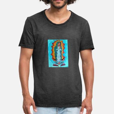 Guadalupe Virgin of Guadalupe 1 A - Herre vintage T-shirt