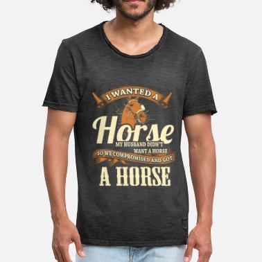 Ride Horse Sayings Horse riding horse riding - Men's Vintage T-Shirt
