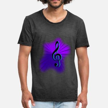 Treble Clef Clef treble clef music - Men's Vintage T-Shirt