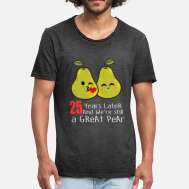 25th Birthday 25th Wedding Anniversary Funny Pear Couple Gift - Men's Vintage T-Shirt