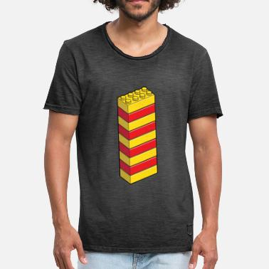 Lego Tower of 9 - Men's Vintage T-Shirt