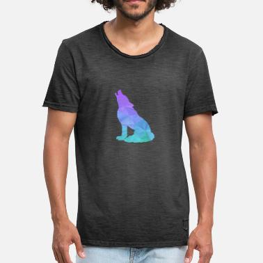 The Shard Wolf geometric shards - gift idea - Men's Vintage T-Shirt