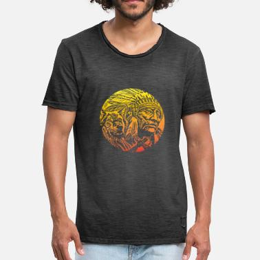 American Indian Indians Native American Native Chief - Men's Vintage T-Shirt