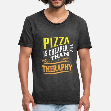 Dish Pizza Italy Food Cheese Dish Dish Tomato - Men's Vintage T-Shirt