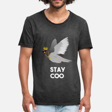 Cool Funny Pigeon Stay Coo Zonnebril Crown Gold - Mannen Vintage T-shirt