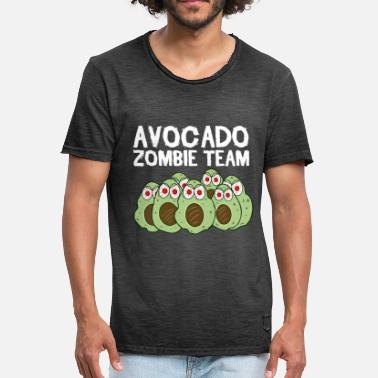 Team Zombie Avocado zombie team voor Halloween - Mannen Vintage T-shirt