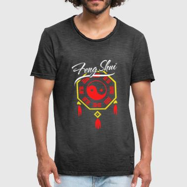Fengshui Bagua Chinese Yin and Yang Gift - Men's Vintage T-Shirt