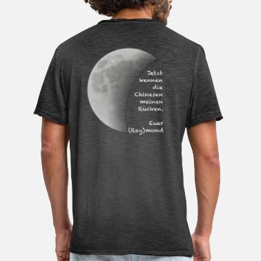 Raymond Chinese on moon - Raymond - Men's Vintage T-Shirt