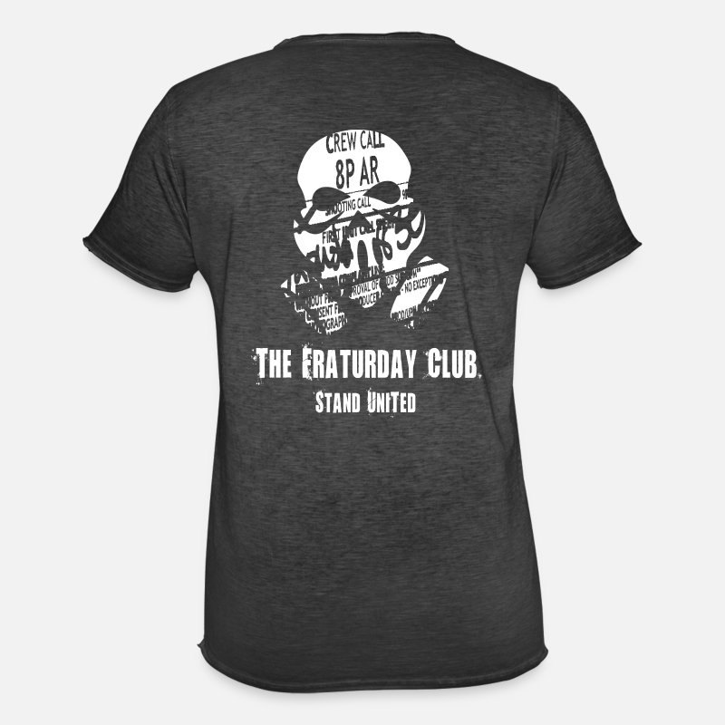 Digital T-Shirts - The Fraturday Club - Men's Vintage T-Shirt washed black