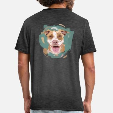 Stafford Pitbull Dog Gift Dog Stafford Terrier - Men's Vintage T-Shirt