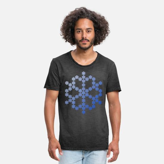Snowflake T-Shirts - Snowflake from Snowflake Snowflakes - Men's Vintage T-Shirt washed black