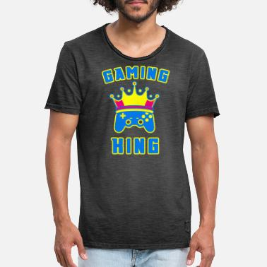 Joypad Gaming King Gamepad Crown Joypad gambler - Men's Vintage T-Shirt