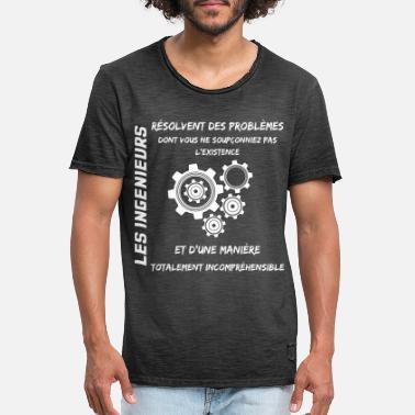 Majesté ingénieur t-shirt Hommes slogan professionnelle Ing technicien cadeau idée NEUF