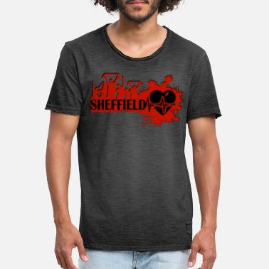 Sheffield Sport Fan Motive - Mannen vintage T-shirt