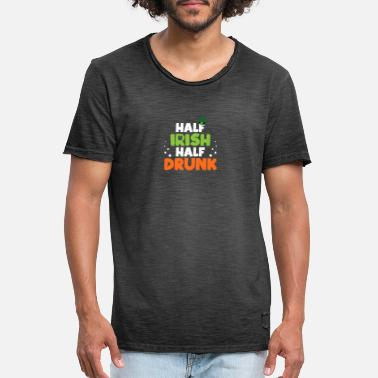 Pint Half Irish Half drunk - Men's Vintage T-Shirt