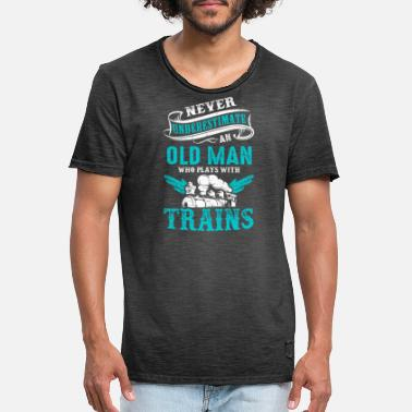 Funny locomotive saying gifts t-shirt - Men's Vintage T-Shirt