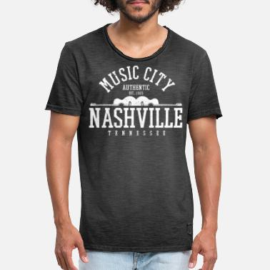 Tennessee Nashville Music City Tennessee Country Music USA - Men's Vintage T-Shirt