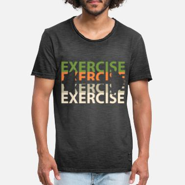 Working Out Work out - Men's Vintage T-Shirt