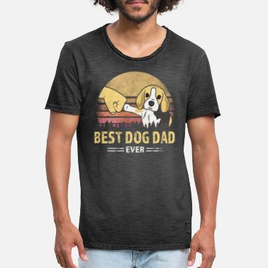 Best Dog Dad Ever Best Dog Dad Ever - idea de regalo para dueños de perros - Camiseta vintage hombre