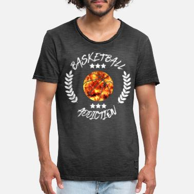 Addicted Basketball Addiction - Addict addicting ball sports - Men's Vintage T-Shirt