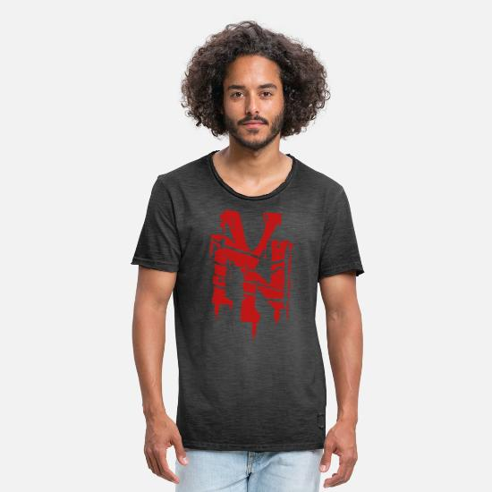 New York T-Shirts - new York - Men's Vintage T-Shirt washed black