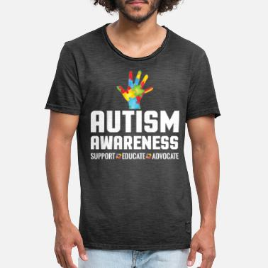 Advocate Support Educate Advocate Autism Awareness - Men's Vintage T-Shirt
