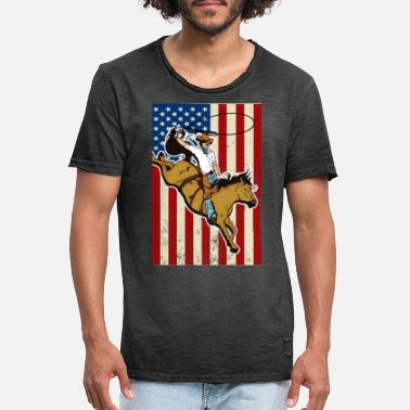 Western Riding Western riding - Men's Vintage T-Shirt
