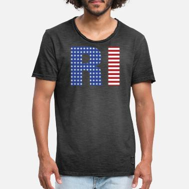 Rhode Island 4th Of July - Men's Vintage T-Shirt