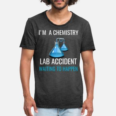 Accidente Soy un accidente de laboratorio de química, regalo divertido para un profesor de química - Camiseta vintage hombre