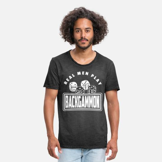 Backgammon T-skjorter - Backgammon Player Board Game T-Shirt Gift - Vintage T-skjorte for menn vintage svart