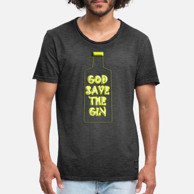 Gin God Save the Gin - Maglietta vintage uomo