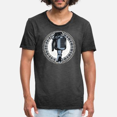 Granade Battle Rap Microphone Granade - Men's Vintage T-Shirt