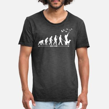 Feral Hunting Evolution Jungle Hunters Feral Wildlife - Men's Vintage T-Shirt