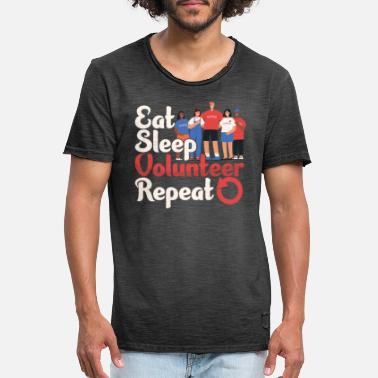 Volunteer Eat Sleep Volunteer Volunteering Volunteers - Men's Vintage T-Shirt