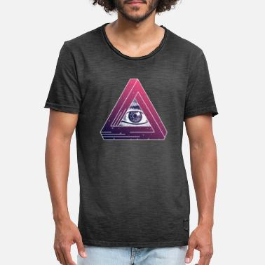 Secret Society Illuminati Triangle Symbol Masonic Conspiracy Gift - Men's Vintage T-Shirt