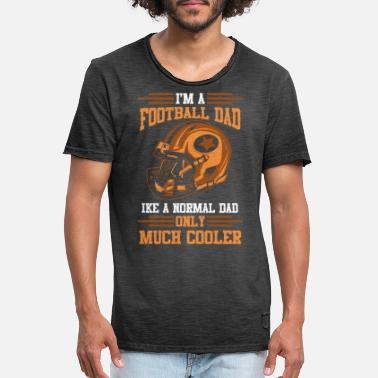 College Football American Football Papa Papa Father's Day Gift - Mannen vintage T-shirt