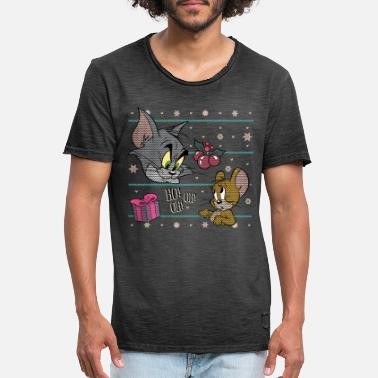 Tom und Jerry Ugly X-Mas Ho! Oh! Oh! - Männer Vintage T-Shirt
